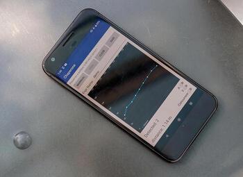 photo of smartphone running Chaperone