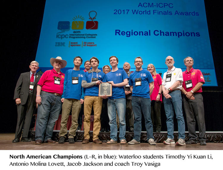photo of ICPC world finalists