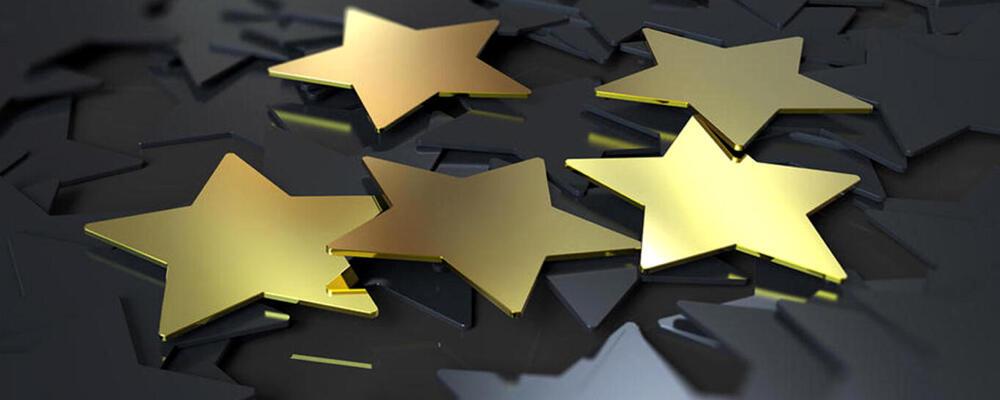 photo of gold stars