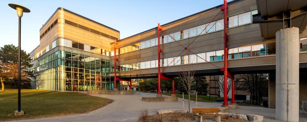 photo of the Davis Centre and bridge to MC