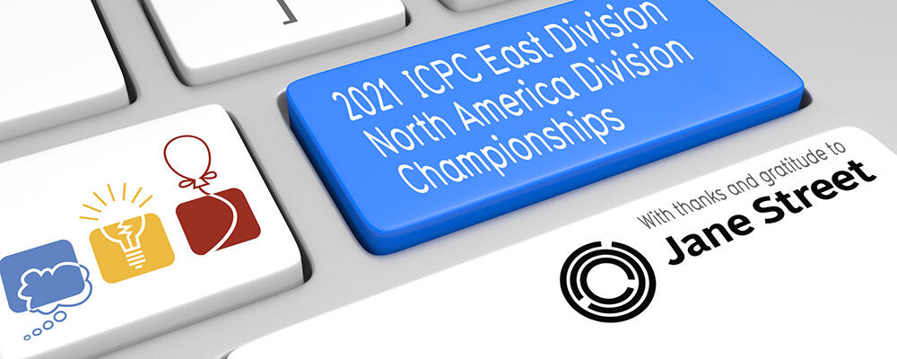 image depicting the 2021 ICPC North America Division Championships, East Division