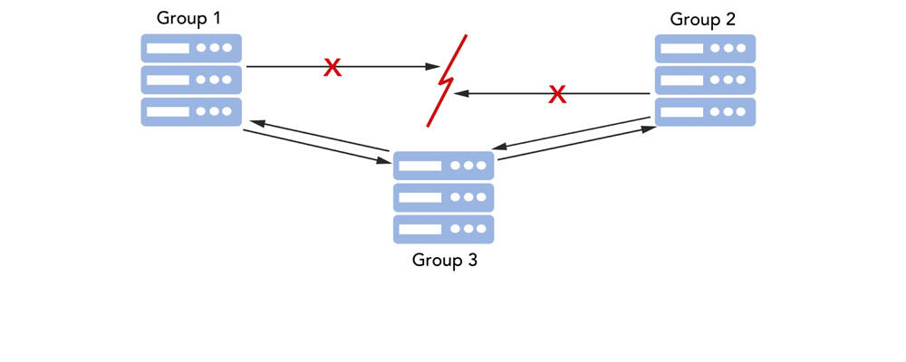 illustration of a partial network partition