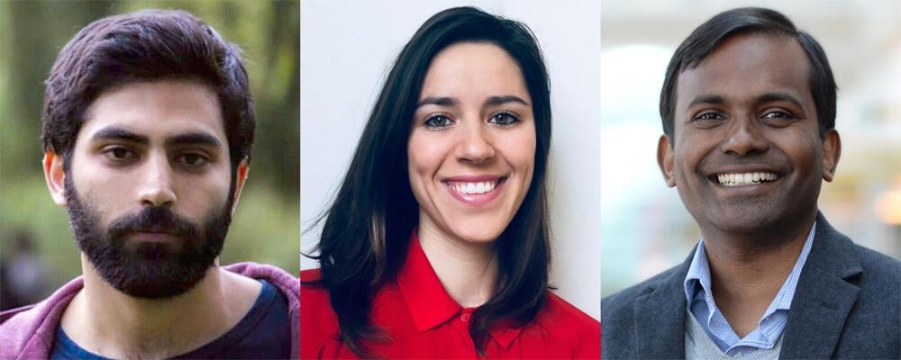 photo of Reza Nadri, Gema Rodríguez-Pérez and Mei Nagappan
