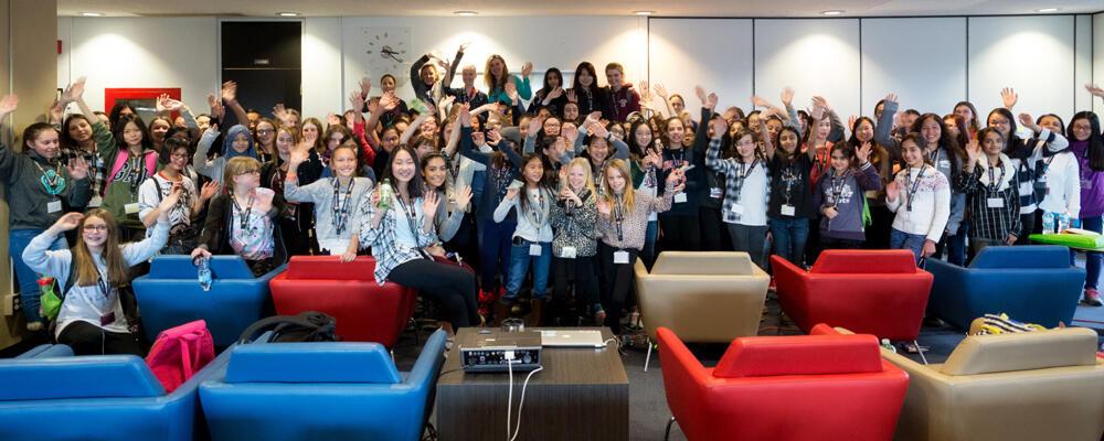photo of a Technovation Girls workshop