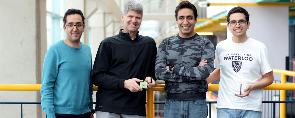 photo of Ali Abedi, Tim Brecht, Omid Abari and Farzan Dehbashi