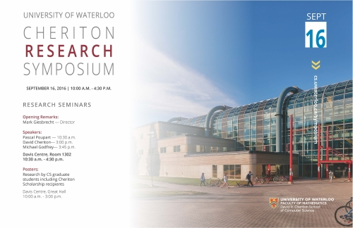 2016 Cheriton Research Symposium poster