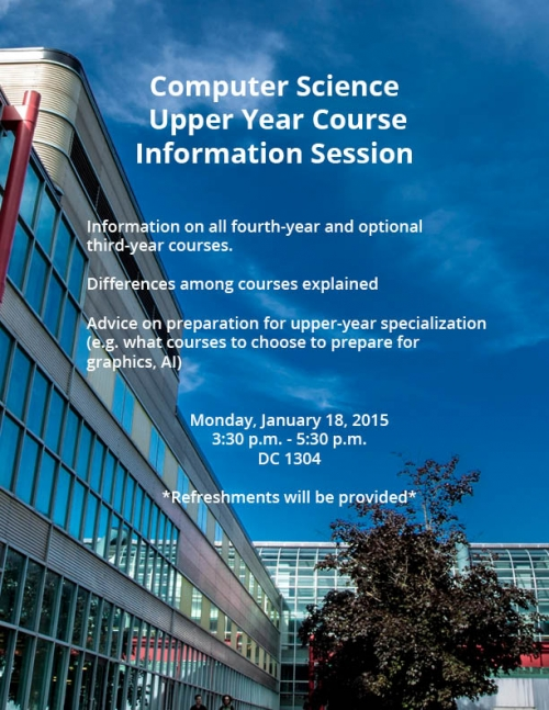 Upper Year Information Session poster