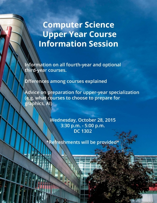 Upper Year Course Information Session poster