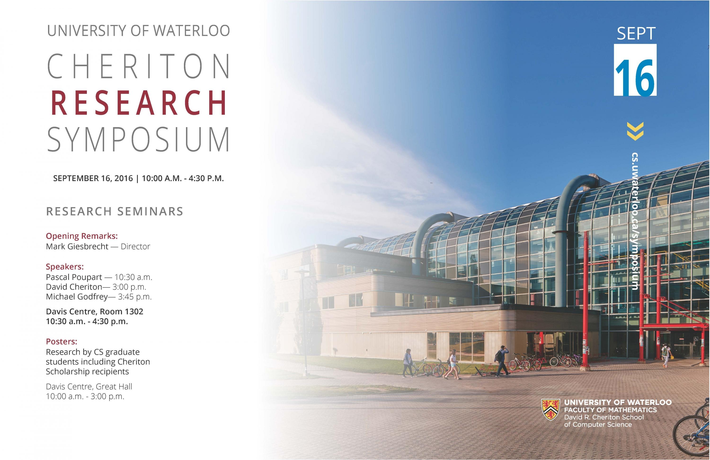 2016 Cheriton Research Symposium poster
