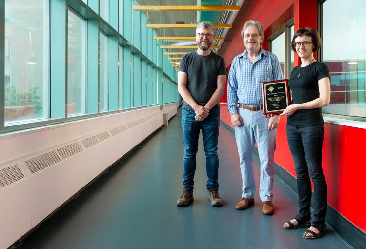 photo of Professors Charles Clarke, Gordon Cormack and Olga Vechtomova
