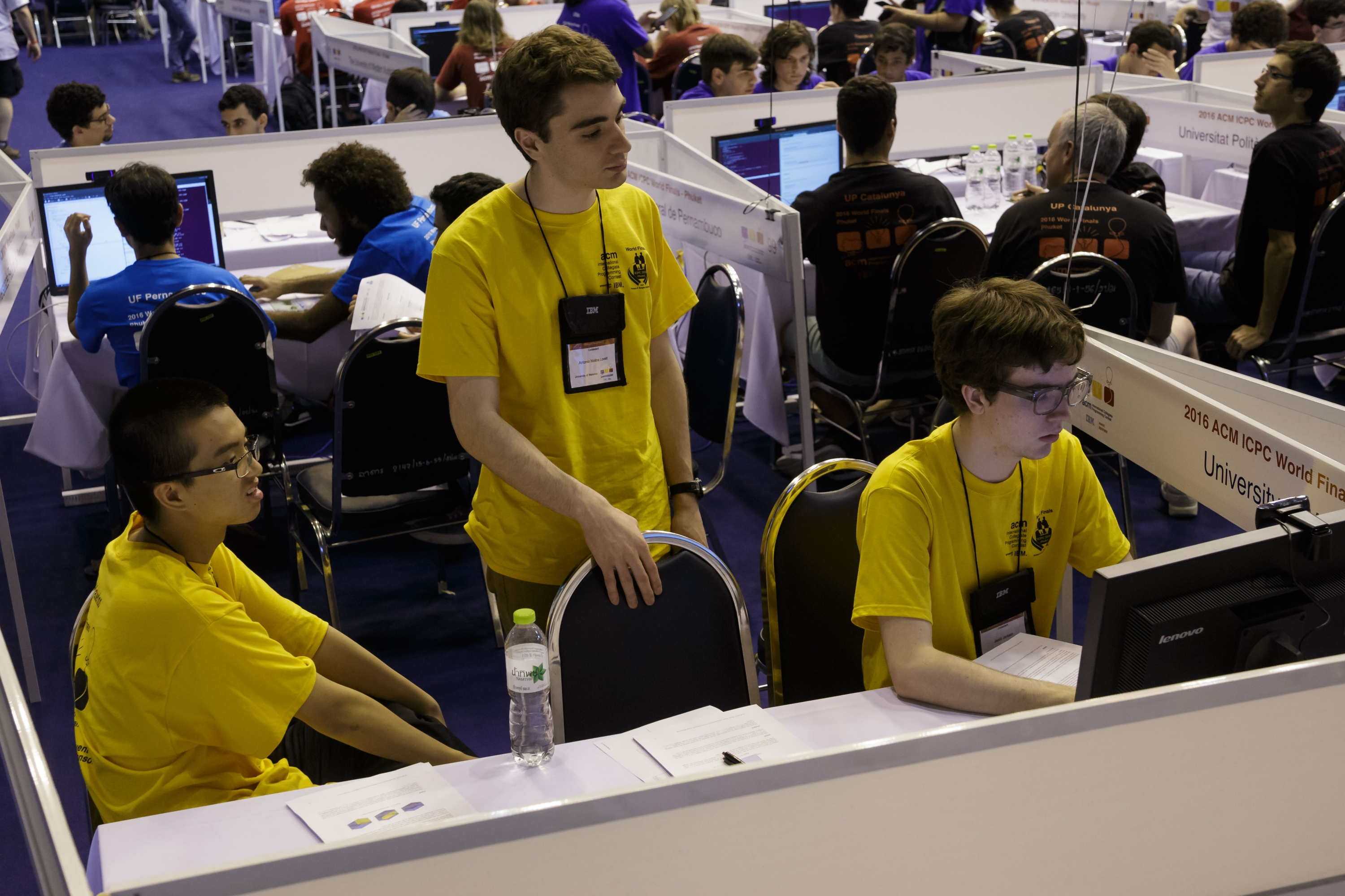 Students at ACM-style programming contest