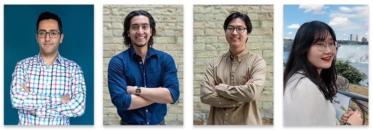 photo of Ali Abedi, Gunesh Pinar, Ku Young Shin and Xiaoyu Wu