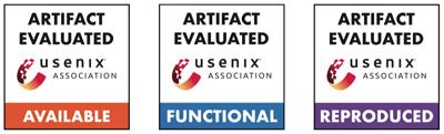 image depicting Usenix artifact evaluation badges