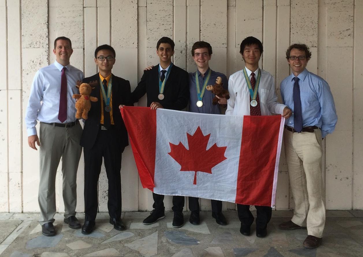 Canadian IOI team: J.P. Pretti, Ben Zhang, Farbod Yadegarian, Jacob Jackson, Timothy Li, Troy Vasiga