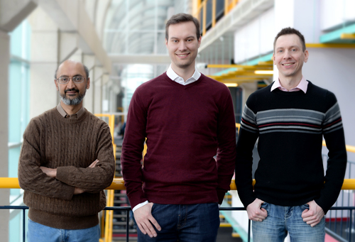 photo of Professor Srinivasan Keshav, PhD candidate Christian Gorenflo and Professor Lukasz Golab