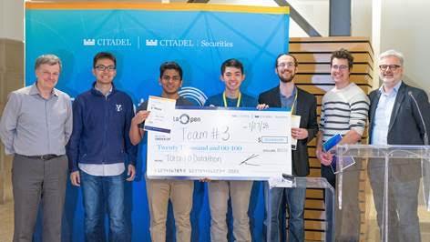 Winning students: Thomas Arab Alexander, Pranav Barot, Ryan Kinnear, Richard Wu
