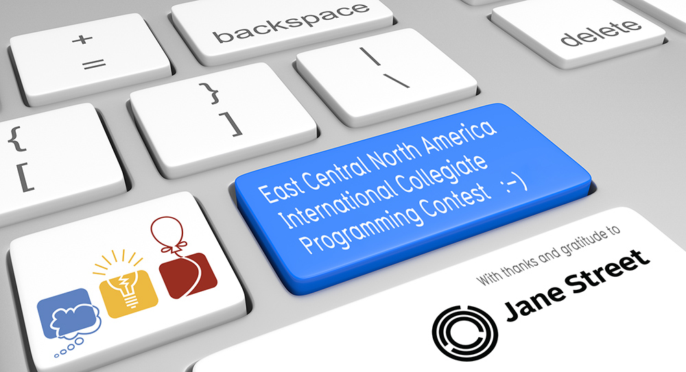 graphic depicting the East Central North America International Collegiate Programming Contest