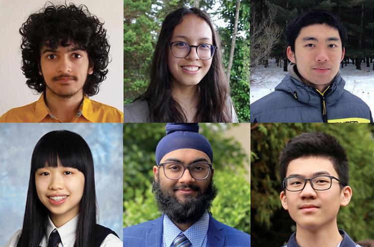 photo of Saptarshi Bhattacherya,Alicia Bremer, Andrew Dong, Heidi Hon, Kushal Mujraland Eric Pei