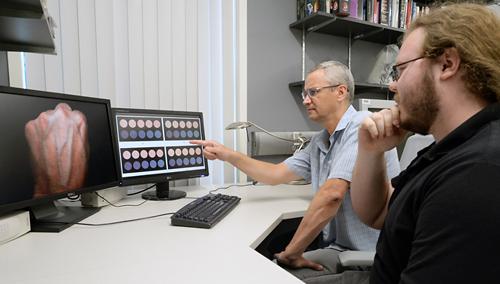 photo of Dr. Baranoski and Spencer van Leeuwen