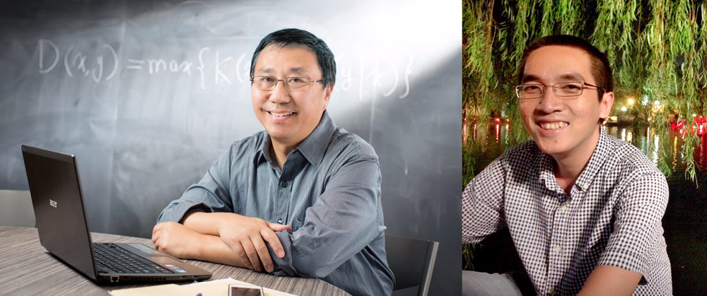 photo of University Professor Ming Li and Dr. Hieu Tran