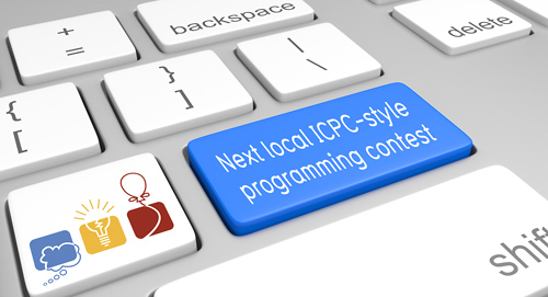 graphic showing the next local ICPC-style programming contest