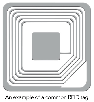 an example of a common RFID tag