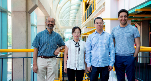 photo of Srinivasan Keshav, Liqiong Chang, Ju Wang and Omid Abari