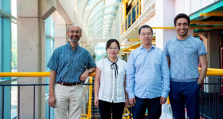 photo of Srinivasan Keshav, Liqiong Chang, Ju Wang and Omid Abari