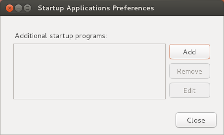 startup preferences window