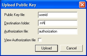 Upload Key Dialog