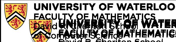 university of waterloo david r cheriton school of computer science