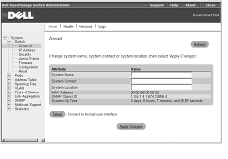 dell openmanage change password