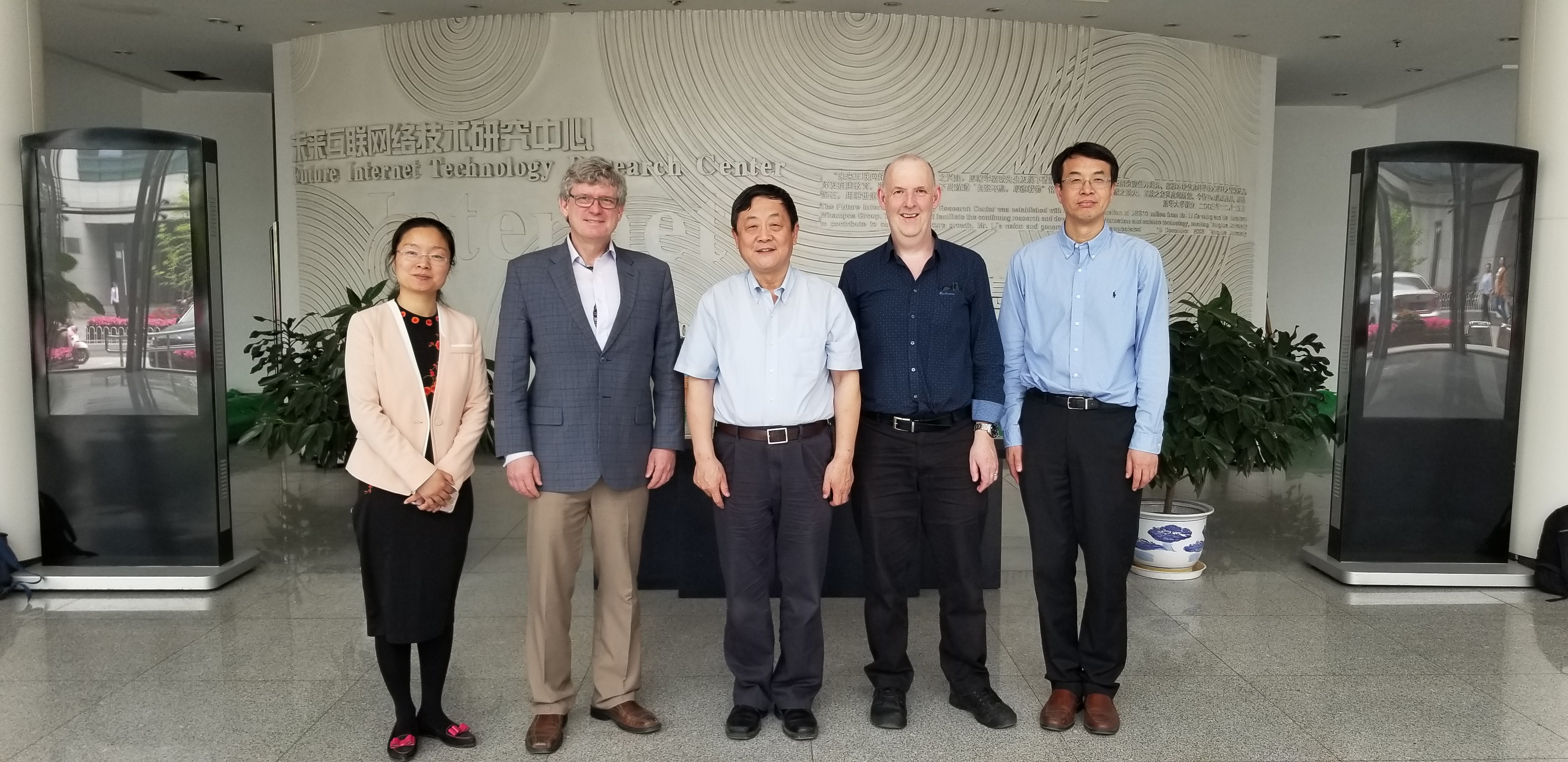Dean of math, and director of CS visited to Tsinghua on 2019-05-15